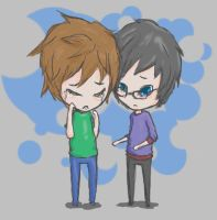 Art Trade: Ryo and Shou by l1k3gh0sts