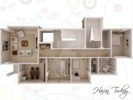 3d floor plan by Blackdesigntr