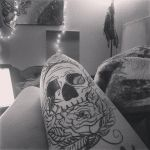 I did a thing on my thigh. by xpoeticsoulx