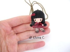 Polymer clay doll by elvira-creations