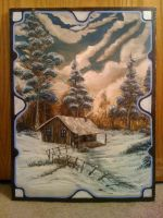 Snow Cap Cabin by inkone37