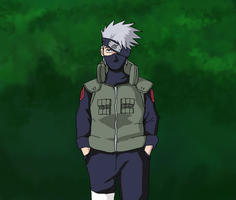 Drawing test: Kakashi by Thepiedsniper