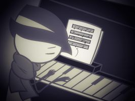 Playing Piano Remake by 5cribnation