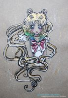 Sketch color Sailor Moon - Fanart Sailor Moon by CrisEsHer