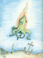Colored pencils octopus by AzombiesTool