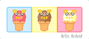 Darumaka Ice Cream Cones by ArtieArdent