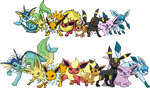 Eeveelutions 2011 -2012 by Tails19950