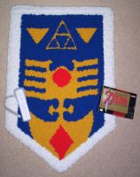 Zelda 3 Shield Rug by BunnieBard