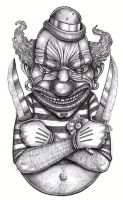 Tattoo design: Killer Clown by tjiggotjurring