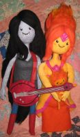 Marceline n' Flame Princess Needle Felted Plushies by CatsFeltLings