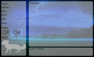 A-fate-undecided Character App Sheet -Blank- by Fallenheart4567