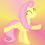 Fluttershy With Background by Phoenix0117