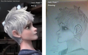 Compared Drawing Of Me - Jack Frost - *.*.*.*.*.*. by JackFrostWolf