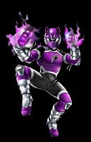 POWER RANGER JUNGLE FURY - VIOLET WOLF RANGER by DXPRO