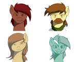 Ponies, Please- Other Face Sprites by Acesential