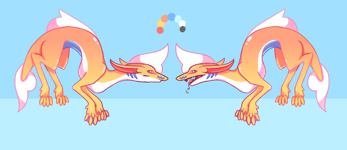 Adoptable creature thingy - auction (OPEN) by Puppy-melon