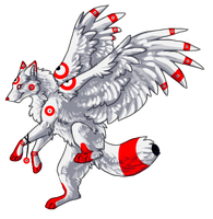 15 point Winged Wolf Adopt Closed by AchievementHuntress