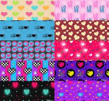 Love Pattern Set 3 by krystalamber2009