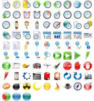 48x48 Free Time Icons by Ikonod