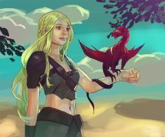 Dany and a dragon by orientalowl