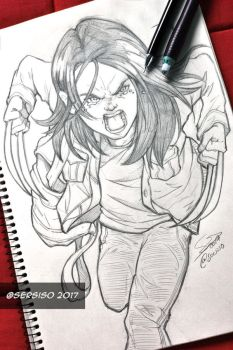 Laura of the movie Logan by Sersiso
