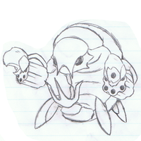 Revolver Fakemon sketch by mssingno