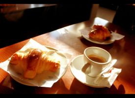 Coffe and Croissants by Nunetts