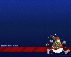 New Year 2011 - Snowman 2 by Letyi