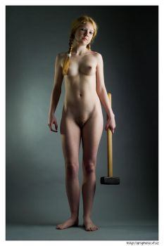 Portrait with a hammer by jerrywhite