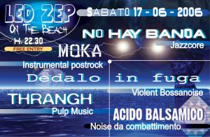 LED ZEP on the beach - Flyer by LaePhYDoPterA