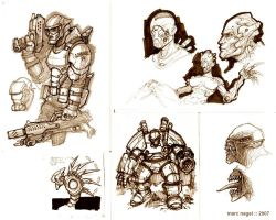 Assorted Sketches by marcnail