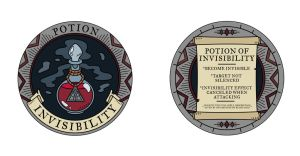 Invisibility Potion Token by mscorley
