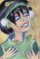 Toph Bei Fong sketchcard by LEXLOTHOR