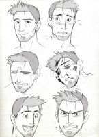 Alistair head sketches PT 1 by Eji