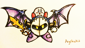 Kirby and Meta Knight Cute Pic by Angelina747