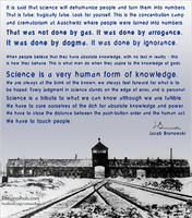Jacob Brownowski on science vs dogmatism.. by rationalhub