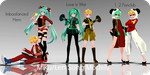 700 Watchers Gift : Miku/Len Song Models DL by Crystallyna