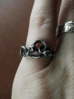 Double Ouroboros Ring by MoonLitCreations