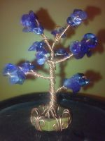 mini 3d wire sculpture amethyst treee by PK-Photo