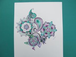 Green and purple tangles by freedomswann