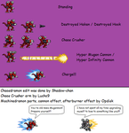 Chaosdramon Sprite Sheet by XxXShadow-chanXxX