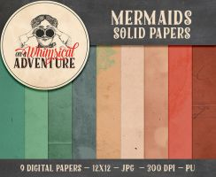 Mermaids Solid Papers by Whimsical-Adventure