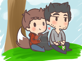 Sterek art trade U vU by SourBears