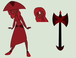 Red Zircon reference sheet by MelodyHeartArtist
