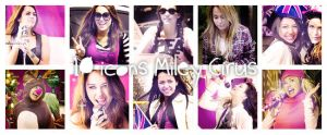10 icons miley cyrus by Dinosaursattack