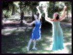 Melian dances with Tinuviel by Gala-maia