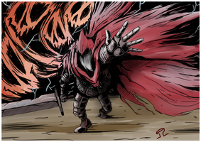 Slave Knight Gael by Anzhyra