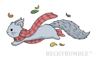 Bounding Squirrel by BeckyBumble