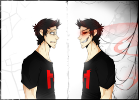 Markiplier and Darkiplier by BlasticHeart