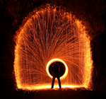Tunnel of fire by Vitaloverdose
